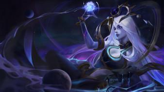 видео игры, league of legends, девушка, магия, планеты, lux