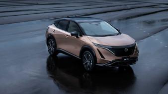 nissan ariya e-4orce 2020, автомобили, nissan, datsun, электрокроссовер, купе, кроссовер, новая, модель, ниссан
