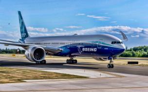 boeing 777x, авиация, пассажирские самолёты, boeing, 777x, пассажирский, лайнер, general, electric, ge9x, самолет, авиаперелет, 777, в, аэропорту