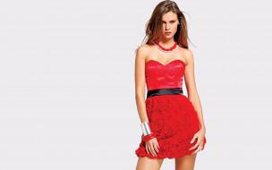 девушки, - рыжеволосые и разноцветные, модель, шатенка, украшения, платье