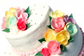 еда, торты, свадебный, торт