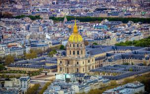города, париж , франция, панорама, базилика