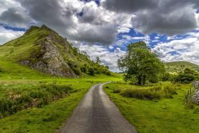 peak district , england, природа, дороги, peak, district