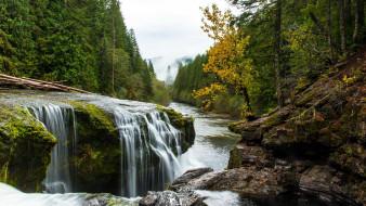 lewis river falls, washington state, usa, природа, водопады, lewis, river, falls, washington, state