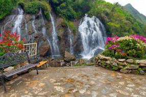 tien sa waterfall, vietnam, природа, водопады, tien, sa, waterfall