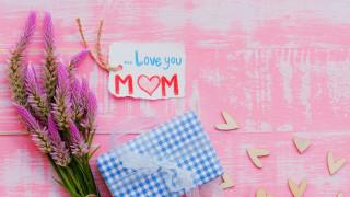 обои для рабочего стола 2560x1440 праздничные, день матери, подарок, надпись, сердечки