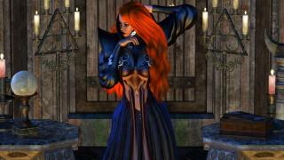 3д графика, фантазия , fantasy, девушка, фон, платье