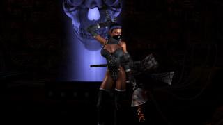 3д графика, фантазия , fantasy, девушка, фон, маска, униформа, шлем, катана