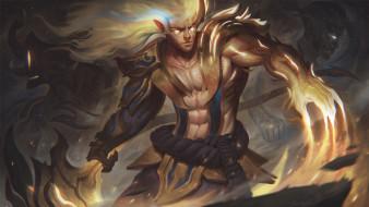видео игры, league of legends, персонаж, огонь, оружие, kayn