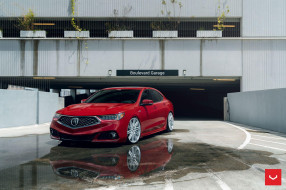 acura tlx a-spec on vossen wheels , cv10,  2019, автомобили, acura, tlx, a-spec, тюнинг, vossen, wheels, 2019, акура, седан