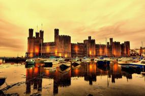 caernarfon castle, города, замки англии, caernarfon, castle