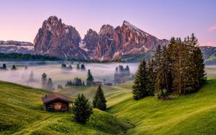 dolomites, italy, природа, горы