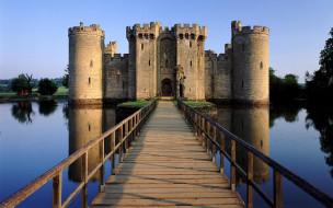 bodiam castle, города, замки англии, bodiam, castle