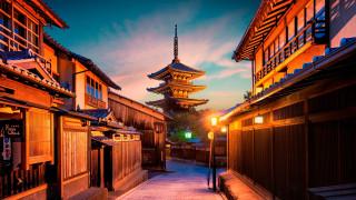 города, киото , япония, киото