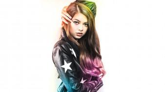 девушки, - рыжеволосые и разноцветные, nikki, hahn, куртка