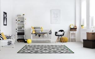 обои для рабочего стола 1920x1200 интерьер, детская комната, ковер, кроватка, полки