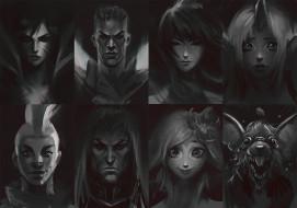 видео игры, league of legends, персонажи, портреты