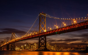 san francisco-oakland bay bridge, города, сан-франциско , сша, san, francisco-oakland, bay, bridge