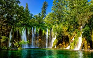 plitvice lakes national park, croatia, природа, водопады, plitvice, lakes, national, park