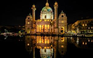 karlskirche, saint charles church, города, вена , австрия, saint, charles, church