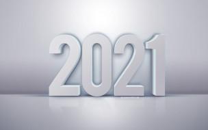 новый 2021 год, белый, 3d буквы, белый фон, 2021 год, 3d искусство, белый фон, 3D 2021, c новым годом 2021 годом