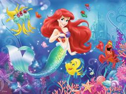мультфильмы, the little mermaid, русалочка, рыбы, ариэль