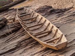 песок, лодка, деревянная