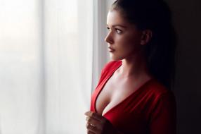 Anna Sofie Lemvigh обои для рабочего стола 2048x1365 anna sofie lemvigh, девушки, anna, sofie, lemvigh, девушка, модель, брюнетка, красотка, поза, окно, красный, макияж, взгляд, причёска