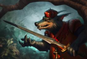 рисованное, кино,  мультфильмы, волк, меч, униформа