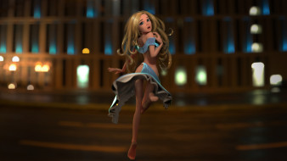 3д графика, мультфильмы и в игры, девушка, фон, взгляд