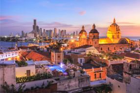 Cartagena, Colombia обои для рабочего стола 2000x1333 cartagena,  colombia, города, - панорамы, город, здания, огни, закат