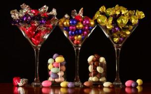 еда, конфеты,  шоколад,  сладости, драже, шоколадные