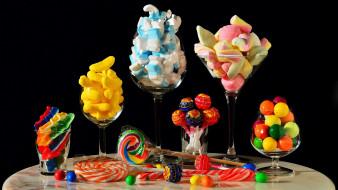 еда, конфеты,  шоколад,  сладости, драже, мармелад, леденцы