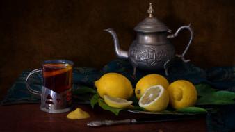 еда, цитрусы, лимон