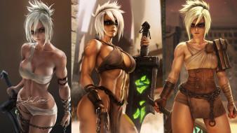 видео игры, league of legends, riven, образы, оружие, меч, цепь