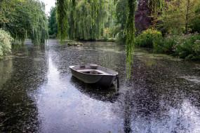 корабли, лодки,  шлюпки, река, лодка, деревья