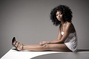 девушки, - темнокожие, девушка, мулатка, модель, чернокожая, темнокожая, стройная, сексуальная, поза, взгляд, причёска, bre, scullark