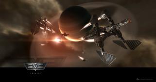видео игры, eve online, космос, планета, корабли