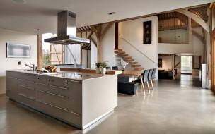 обои для рабочего стола 1920x1200 интерьер, кухня, плита, мойка, мебель