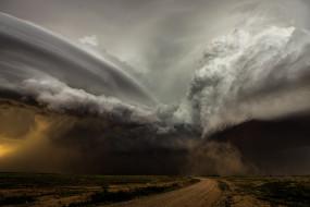 природа, стихия, торнадо, буря, небо, горизонт, ветер, ураган, бедствие, облака, непогода, дождь, ливень, чёрные