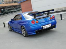 автомобили, nissan, datsun, ниссан, синий, skyline