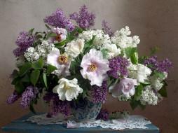 цветы, букеты,  композиции, сирень, тюльпаны
