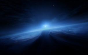 нептун, космос, планета, вселенная, поверхность, грунт, синева, горизонт, пространство, пустыня, атмосфера, облака