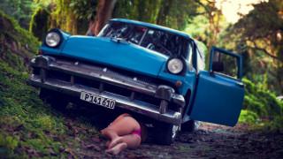 автомобили, -авто с девушками, красивая, девушка, попка