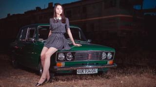 автомобили, -авто с девушками, жигули