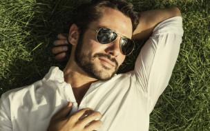 мужчины, - unsort, бородка, усы, солнцезащитные, очки