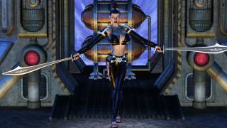 обои для рабочего стола 1920x1080 3д графика, фантазия , fantasy, девушка, фон, взгляд, униформа, меч