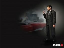 видео игры, mafia ii, мафия, гангстер, машина, пистолет