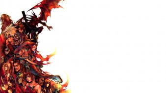 видео игры, final fantasy vii,  dirge of cerberus, персонажи, коллаж