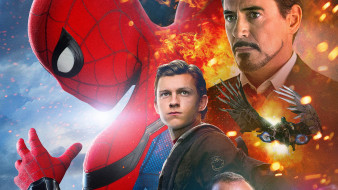 кино фильмы, spider-man,  far from home, коллаж